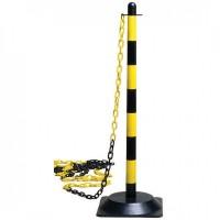 Lanț de semnalizare galben-negru, roșu-alb - 25 metri