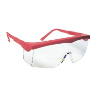 Europrotection PivoLux - ochelari de protecție incolori, ramă roșie
